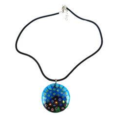 Uniquepedia.com - Melted Millefiori Beads Pendant on Cord Necklace, $30.00 (http://www.uniquepedia.com/melted-millefiori-beads-pendant-on-cord-necklace/)