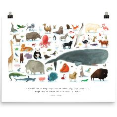 """12 Pieces of Affordable Art for Kids 12 pieces of inexpensive art for """"kid"""" areas. The Animals, Kids Animals, Big Kids, Art For Kids, Motifs Animal, Kids Artwork, Kids Bedroom, Kids Rooms, Playrooms"""