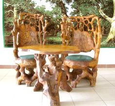 Totally Awesome Furniture Carved Out Of Tree Roots