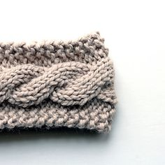 ravelry knitted cable headbands | Ravelry: Cable Knit Headband pattern by Brome…