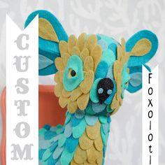 Custom Foxolotl by horribleadorables on Etsy