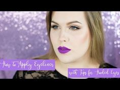 How to Apply Eyeliner with Tips for Hooded Eyes // Rebecca Shores MUA - YouTube