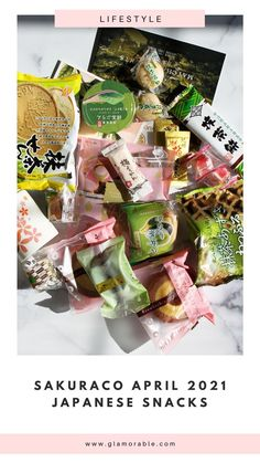 Love trying Japanese snacks? This month's box was filled to the brim with all things matcha! #japan #jbeauty #nippon #sakuraco #japanesefood #japanesesnacks Monthly Subscription, Subscription Boxes, Japanese Snacks, Japanese Food, Sakura Mochi, Flavored Rice, Low Calorie Snacks, Food Industry, Strawberries And Cream