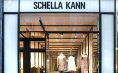 Shella Kann - an Austrian designer who hasn't reached the fame of Helmut Lang. Nevertheless, the store is beautiful, their clothes as well. Mininmalist with a touch of theatrical. Store Layout, Helmut Lang, Designer, Touch, Clothes, Beautiful, Alone, Outfits, Clothing