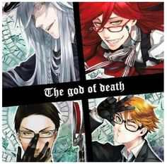 Undertaker, Grell Sutcliff, William T. Spears, Ronald Nox - {anime, manga, otaku, fangirl, animelover, Black Butler, Black Butler 2, Kuroshitsuji, Kuroshitsuji 2, death, reapers, reaper}