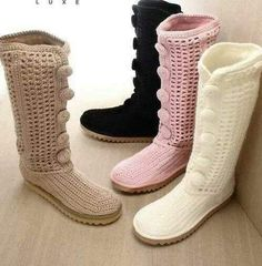 organization shout outs! - A girl and a glue gun Crochet Boots Pattern, Shoe Pattern, Crochet Slippers, Crochet Lace, Knit Shoes, Sock Shoes, Shoe Boots, Lace Boot Socks, Boot Cuffs
