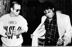 Michael Jackson and Elton John. My favorites <3 What is Michael looking at? He seems so adorably confused.