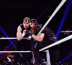 Dean and Seth figuring what moves they are going to do in the ring