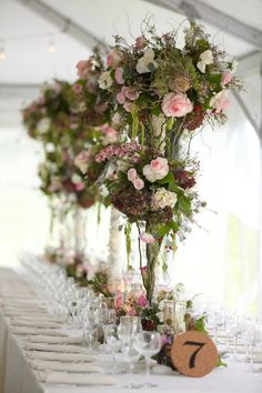 Rise and shine lovelies! After a weekend of celebrating, it's time to give yourself a little chance to ease into the new year by indulging in this sweet as can be backyard beauty by Exquisite Affairs. Rustic Centerpieces, Flower Centerpieces, Reception Decorations, Flower Decorations, Wedding Centerpieces, Flower Arrangements, Perfect Wedding, Diy Wedding, Wedding Flowers