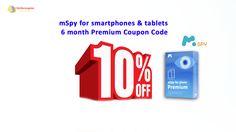 mSpy for smartphones & tablets – 6 months Premium Coupon Code http://notecoupon.com/coupon/mspy-for-smartphones-tablets-6-mo-premium-subs-coupon-sale-5