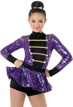 Sequin Biketard with Appliqué Accents Dance Costumes Tap, Jazz Costumes, Ballet Costumes, Dance Outfits, Dance Dresses, Baile Jazz, Queen Costume, Dance Wear, Sequins