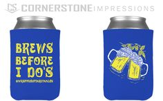 Brews before i do's koozies are PERFECT for pre-wedding festivities. :) Bachelorette parties, bachelor parties, engagement parties, pregaming the wedding, whatever your style is, we've got koozies for it. ;) Bachelor Parties, Bachelorette Parties, Engagement Parties, Drink Sleeves, Brewing, Your Style, Water Bottle, Printed, Party