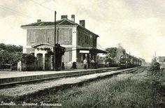 Stazione ferroviaria di Lomello; sbuffi di vapore agli inizi del '900. #Lomellina #treni