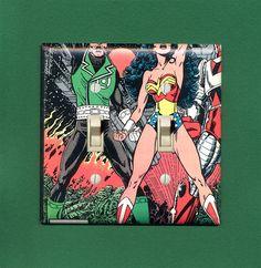Green Lantern and Wonder Woman  Superhero Dual by SuperFunGifts