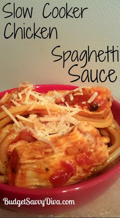 Slow Cooker Chicken Spaghetti Sauce