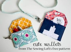 Show Off Saturday: some cute little wallets on the fly! — SewCanShe   Free Daily Sewing Tutorials
