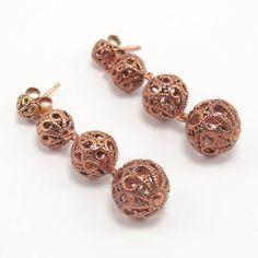 $74.90 Earrings in sterling silver gilt