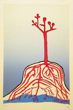 Louise Bourgeois The Ainu Tree, 1999 Lithograph 29 x 20 inches Edition of 100 Louise Bourgeois Art, Modern Art, Contemporary Art, Textiles, Art Plastique, Art Auction, Famous Artists, American Artists, Sculpture