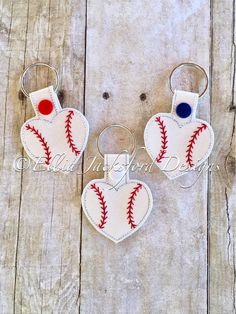 A personal favorite from my Etsy shop https://www.etsy.com/listing/514964976/baseball-heart-keychains