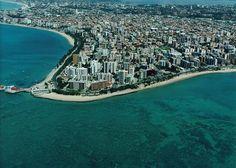 Vista aérea da Praia de Ponta Verde, Maceió/AL.