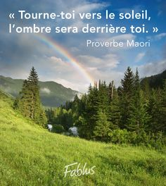 Tourne-toi vers le soleil, l'ombre sera derrière toi. - Proverbe Maori Places To Travel, Travel Destinations, Image Citation, French Quotes, Learn French, Positive Attitude, Travel With Kids, Words Quotes, Best Quotes