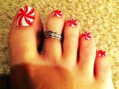 Candy Cane Christmas Nail Art For Short Nails - Cute Christmas Nail Art For Short Nails