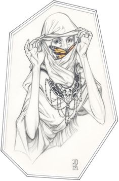 'Nomad' by J.A.W. Cooper. Find out more about Cooper and see more of her awesome art in her interview at wowxwow.com (drawing, figurative, animals, nature, butterfly, symbolism, narrative, surreal, surrealism, sketch, sketchbook)