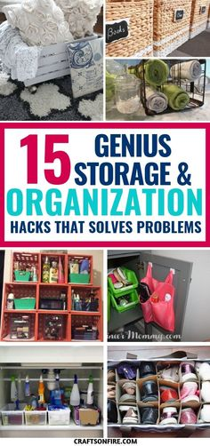 These Storage and Organization Hacks have solved ALL my home problems! Can't believe I didn't see these organization tips before. It would have saved me from all that stress! So easy and simple yet it works BRILLIANTLY! Home Organization Hacks, Storage Hacks, Organizing Your Home, Organising, Pantry Organization, Organizing Tips, Diy Storage, Storage Ideas, Speed Cleaning