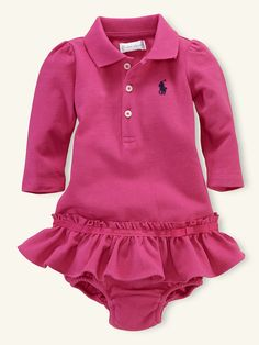 Long-Sleeved Polo Dress - Dresses   Rompers - RalphLauren.com 60ef998437c