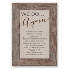 Modern Wedding Invitations For You Funny Renewal