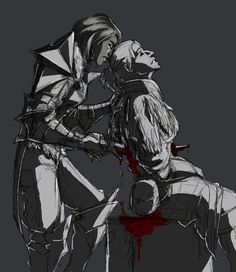 A sad ending for Hawke and Anders, the latter paying for his betrayal with his life. This is one of the saddest scenes in the game, even if Anders annoyed me. ~Happy, for a Time by TheSilverRaven on deviantART