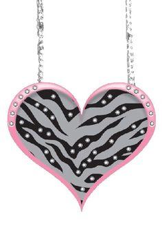Zebra Heart Rearview Mirror Car Ornament