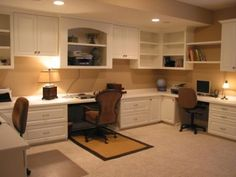 Innovative Cabinets and Closets – Home office design layout Home Office Space, Home Office Design, Home Office Decor, Office Ideas, Office Layouts, Home Office Cabinets, Home Office Furniture, Basement Office, Muebles Living