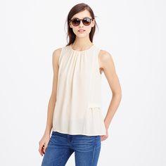 Sleeveless flounced top : tops & blouses | J.Crew