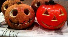 Dollar Store DIY: Primitive Pumpkins
