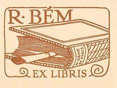 Ex Libris for R Bém by Vojtech Preissig