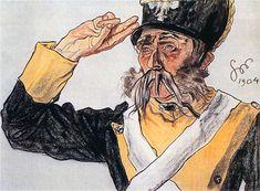 Stanislaw Wyspianski - Portrait of Ludwik Solski 1904 Baba Yaga, Portraits, Cub Scouts, British Army, Ancient Romans, Roman Empire, Art And Architecture, Disney Characters, Fictional Characters