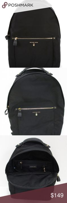 """NWOT MICHAEL KORS Kelsey Backpack Whether you're headed to class, using it as a diaper bag or heading to the airport to catch your next globe-setting trip, this stylish Backpack by Michael Kors is what your accessory collection has been missing. Approx. Measurements:- 12"""" x 4.25"""" x 15"""" Thanks for Shopping!! Michael Kors Bags Backpacks Michael Kors Gold, Michael Kors Bag, Convertible Stroller, Stylish Backpacks, Fashion Design, Fashion Tips, Fashion Trends, Diaper Bag, Globe"""