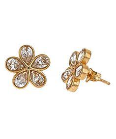 dainty gold earrings - $43