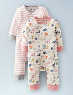 Pretty Twin Pack Rompers 74005 Newborn at Boden
