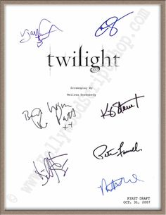 #Twilight signed movie script by Taylor #Lautner, Robert Pattinson & 5 more! $19.95 http://www.hollywoodscriptshop.com/catalog/item/7986727/9291195.htm