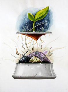 2016 계명대학교 실기대회 수상작/복현 창조의 아침 : 네이버 블로그 Creative Poster Design, Creative Posters, Air Pollution Poster, Save Earth Drawing, Meaningful Paintings, Earth Drawings, Earth Poster, Environment Painting, Water Poster