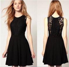 HOT Women Fashion Sexy Lace Open Back Dress Slim by Beautystyle, $16.99