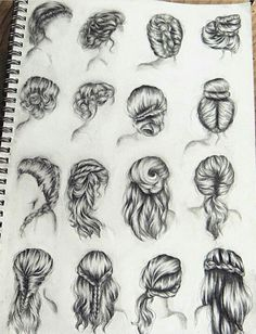 Related image # Braids drawing hairstyles Drawing Hairstyles For Your Characters - Drawing On Demand Girl Hair Drawing, Girl Drawing Sketches, Art Drawings Sketches Simple, Braid Drawing, Drawing Tips, How To Draw Braids, How To Draw Hair, Hair Sketch, Art Inspiration Drawing