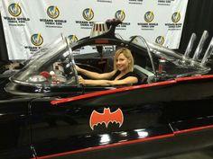 Gigi edgley +batmobile = awsome pic