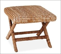 Sea Grass Stool - coastal bedroom-this could work as a luggage rack or for extra seating.