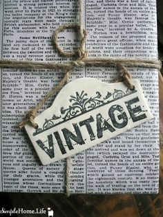 Large Clay Vintage Sign Tag  Ornament Decoration