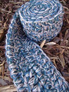 one hour scarf by laughingpurplegoldfish, via Flickr
