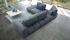 Soho sectional sofa is the epicenter of all the daily moments. Soho, with a simple action, transforms the depth of the seats. Soho sec Leather Furniture, Cool Furniture, Living Room Furniture, Furniture Sets, Modern Furniture, Living Rooms, Basement Furniture, Soho, Leather Sectional Sofas