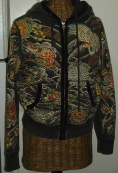 vintage Lucky Brand Tokyo Tattoo hoodie sweatshirt front.